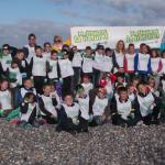 Septembre 2014 Photo nettoyage de la plage par les enfants des écoles publiques et privées. Félicitations à tous !