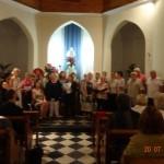 20 Juillet 2014 Chant avec l'ensemble des stagiaires à  la chapelle des marins