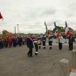 8 mai 2014 - Traditionnelle remise de gerbes par les associations patriotiques et la Municipalité de Cayeux au Monument aux Morts en hommage aux victimes de la 2ème Guerre Mondiale avec la participation de la musique et des enfants des écoles
