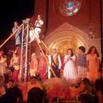 30 Juillet 2014 L'église de Cayeux illuminée  Un hommage en ce jour de l'appel à la mobilisation centenaire